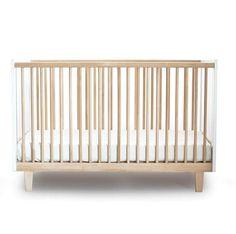 Oeuf Rhea Crib - White and Birch