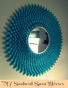 DIY Sunburst Spoon Mirror - I've been looking for a good sunburst DIY, and now I have it!