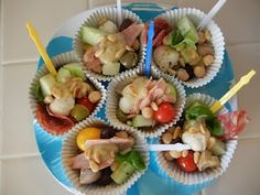 Shelly's Individual Antipasto Salads #weightlosstips