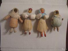 Елочные игрушки СССР Девчонки 2 — фотография №1