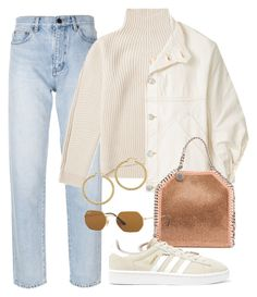 A fashion look from November 2017 featuring wool shirt, white jean jacket and straight-leg jeans. Browse and shop related looks. Stylish Outfits, Winter Outfits, Cute Outfits, Fashion Outfits, Womens Fashion, Fashion Trends, Looks Vintage, Mode Inspiration, Aesthetic Clothes