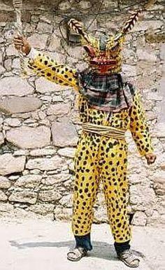 full jaguar outfit w/mask. Danza del Tigre, Zitlala, Mexico