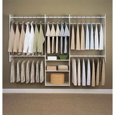 Easy Track 4-8 Ft. White Deluxe Starter Closet - Mills Fleet Farm