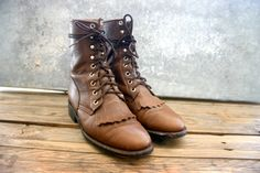 80's Brown Roper Boots by KingsHighway on Etsy, $50.00