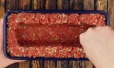 pastel de carne juega en una liga completamente diferente, y esto solo llena - Kochen & Backen - Meatloaf Recipes, Meat Recipes, Chicken Recipes, Cooking Recipes, Tasty Videos, Food Videos, Meat Loaf, Easy Healthy Breakfast, Good Food