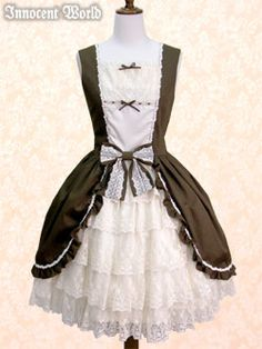 Innocent World - Ribbon Bustle JSK /// ¥31,290 /// Bust:  86cm~105cm Waist:  63cm~77cm Length:  92.5cm (Skirt: 55cm)