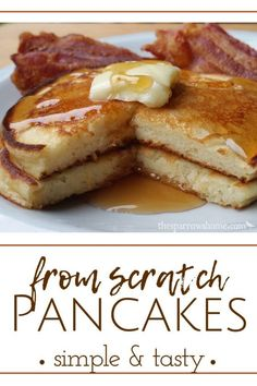 These simple pancakes, made from scratch, are the tastiest pancakes I've ever made. This is the last pancake recipe you'll need. Raspberry Smoothie, Apple Smoothies, Breakfast Recipes, Dessert Recipes, Dinner Recipes, Pancakes From Scratch, Cooking App, Tasty Pancakes, Thing 1