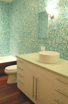 like tile look with dark colored wood floor...