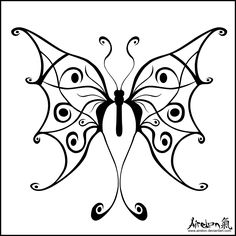 Tribal Butterfly Tattoo - Black by ~airelon on deviantART