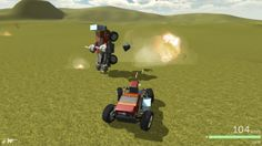 "Scraps (""Build a combat vehicle from parts and drive it in a fight with other players."") http://www.scrapsgame.com/"
