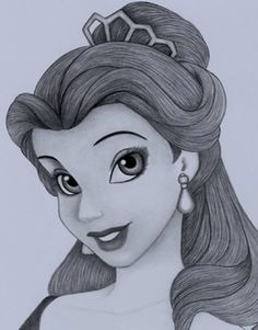 Disney's #Belle #drawing #pencil>>whoever drew this deserves lots of credit... this is amazing.