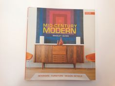 Here is a frame worthy kid craft that that could pass for cool modern art! You will need to set the kiddos up for success by choosing colors that work with your room. I picked the exact color scheme on this beautiful mid century modern book cover