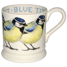 """Birds"" Blue Tit 1/2 Pint Mug at Emma Bridgewater"