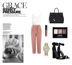Classy by carlacorucho on Polyvore featuring Sans Souci, Topshop, Kendall + Kylie, Yves Saint Laurent, Rolex and NYX