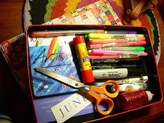 art journal travel kit