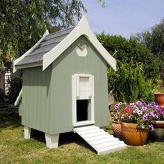 The Fantasia Shades Hen House in Sage Green from Flights So Fancy.