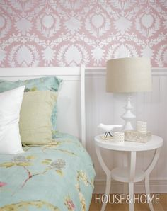 Pretty Stencilled Wall | House & Home