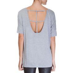MOB - T-shirt detalhe costas MOB - cinza - OQVestir