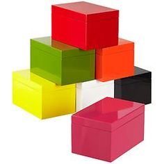 The Container Store > Large Lacquered Rectangular Box