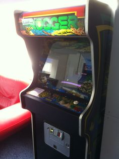 Original Frogger arcade machine in Lucky 777's Southend-on-sea