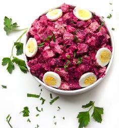 Rosolje: Estonian Potato and Beet Salad