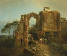 JOSEPHUS AUGUSTUS KNIP (1777 - 1847), ITALIAN LANDSCAPE WITH FIGURES AND RUINS