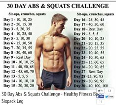 30 Day Ab and Squat Challenge Workout | Posted By: AdvancedWeightLossTips.com
