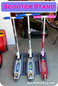 Batchelors Way: How to Build a Scooter Stand!