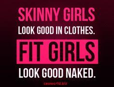 Morning Bits: Skinny Girls vs Fit Girls ---------  skinny girls look good in clothes Fit girls look good naked