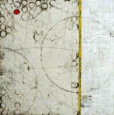 Sue Ukkola, # 3, encaustic on wood, 36 x 36 in.
