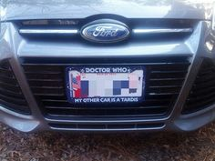 my doctor who license plate frame yay i love it - Doctor Who License Plate Frame