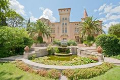 The Languedoc is littered with chateaux and wine domaines. Château Garrigue is available for vacation rental to sleep 15. www.purefrance.com