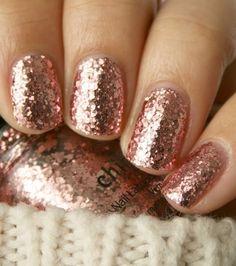 pink glitter #nails #beauty