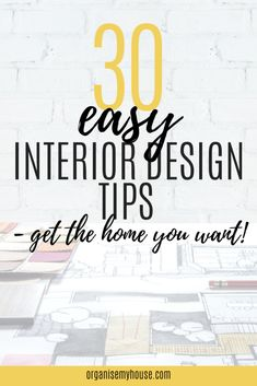 Interior design tips to make your home look amazing. Use these fantastic tips to get your home looking exactly as you want it to. Home styling tips & tricks Interior Design For Beginners, Interior Design Basics, Interior Design Principles, Decorating A New Home, Interior Decorating Tips, Interior Styling, Decorating Ideas, Interior Designing, Luxury Interior