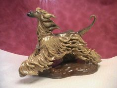 Clay Art and Sculptures - Konrobbi Afghan Hounds Chinese Crested Art