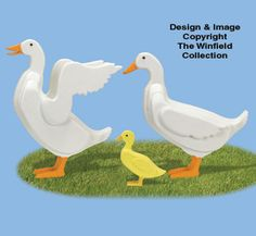 3D Life-Size Ducks Wood Pattern