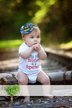My Big Brother is a Superhero Sibling by ABCCreativeLearning, $22.00. Brooklynn's coming home outfit with a cute little bow and tights.