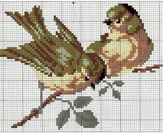 Gorgeous two birds freebie, thanks for share xox NOTE: The Birds tail is on my Board Free Cross Stitch: It does have a tail! Just Cross Stitch, Cross Stitch Animals, Cross Stitch Charts, Cross Stitch Designs, Cross Stitch Patterns, Embroidery Patterns Free, Bird Patterns, Cross Stitching, Cross Stitch Embroidery