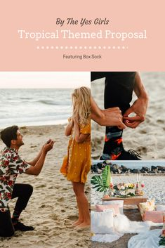 Tropical Themed Proposal, By The Yes Girls // Featuring our CRUSHin' IT socks and Thin Engagement Ring Box Thin Engagement Rings, Proposal Photographer, San Clemente, Designer Socks, Proposals, Tropical, Box, Girls, Collection