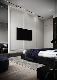 Condo Interior Design, Flat Interior, Interior Concept, Interior Design Inspiration, Modern Interior, Furniture Design, Modern Luxury Bedroom, Luxurious Bedrooms, Adobe Photoshop