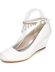Women's Heels Spring / Summer / Fall Wedges / Heels / Round Toe Silk Wedding / Party