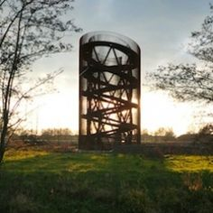 The Observatory, an observation tower/ artwork in the new Leidsche. Best Picture For Bird Watching Landscape Structure, Landscape Architecture, Landscape Design, Architecture Design, Utrecht, Wetland Park, Public Space Design, Lookout Tower, Tower Design