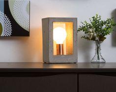 Luminária de mesa em concreto: Encano - Cobre