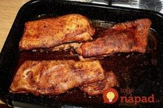 Ak máte radi bravčový bôčik, odporúčam vám tento recept. Robím ho vždy, keď k nám majú prísť hostia, pretože ho pýtajú vždy. Môžete ich podávať aj len s čerstvým chlebíkom, je to pochúťka nad pochúťky! Grill Oven, Ribs On Grill, Barbecue, Grilling, Recipies, Pork, Ale, Chicken, Meat