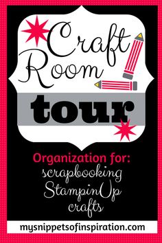 #craft room tour for #scrapbooking #stamps #StampinUp #crafts #diy that you'll LOVE! #organize #organization