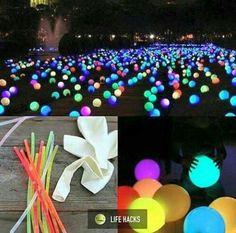 Knicklichter, ballons,