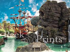 6ft x 4.5ft Pirate's Cove Pirate Vinyl Photography by PeekPrints
