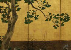 Gingko Tree and Seasonal Flowers at 1stdibs