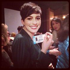 Anne Hathaway has a ticket to #SongOne, do you? #Sundance via @SundanceInstitute