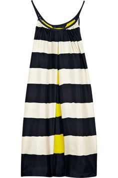 Marc by Marc Jacobs Bella striped silk dress - love the style and color of t his not in silk though! Estilo Fashion, Look Fashion, Womens Fashion, Mode Style, Style Me, Jacob And Bella, Cute Dresses, Cute Outfits, Short Dresses